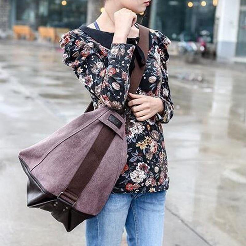 large capacity blast wave Korean special oversized shoulder bag Casual  women canvas bag handbag New fall women handbags L4 781-in Shoulder Bags  from Luggage ... 466c62d432349