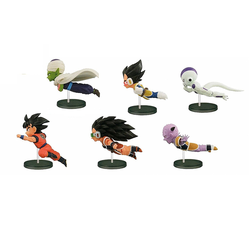 6pcs/set Dragon Ball Z Gokou Vegeta Frieza Piccolo Raditz PVC Action Figure Collectible Model Toy 7-9cm KT3834
