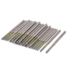 10pcs Diamond Coated Drill Bit For Dremel Tools Accessories Diamond Drill Bits 0.8/1.0/1.2/1.5/1.8mm For Glass Marble