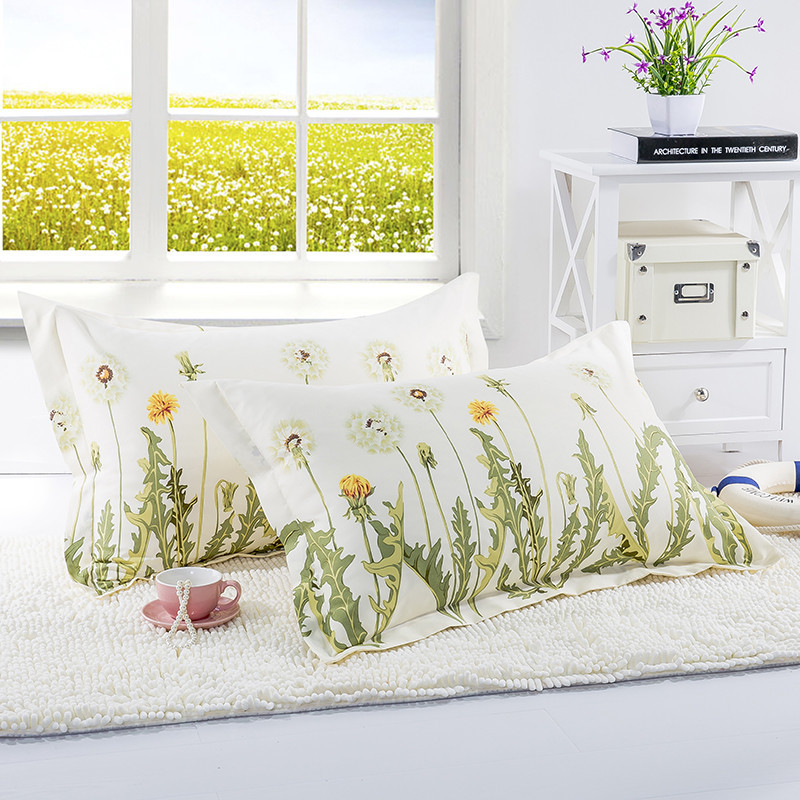 1 Piece 480*740mm Dandelion Print Pillow Case Cover 100% Polyester Plain Knitted Pillowcase For Kids Adults XF340-40