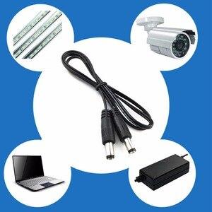 Штепсельная Вилка постоянного тока 5,5x2,1 мм, штекер-5,5x2,1 мм, штекер-адаптер CCTV, соединительный кабель