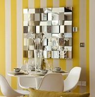 Moderne spiegelwand decor abgeschrägte polydirectional quadratischen spiegel multi-facet galss spiegel wall art