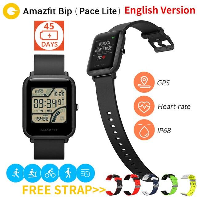 Xiaomi Amazfit Bip Sports Smart Watch Huami GPS Smartwatch [English Version] Bluetooth4.0 GPS Heart Rate Monitor 45 Days Standby