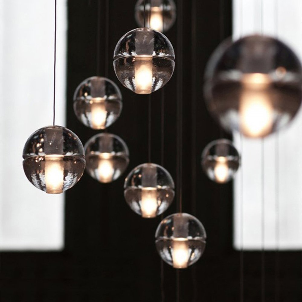 Injuicy Lighting Modern Magic Clear Crystal Ball Pendant Lamp G4 Led Edison Ceiling Light for Living Room Restaurant Hotel tested for xiaomi mi 5 mi5 lcd screen xiaomi 5 fhd display touch panel replacement digitizer assembly parts with free shipping