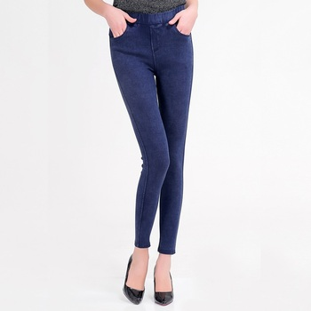 High Waist Push Up Fake Jeans