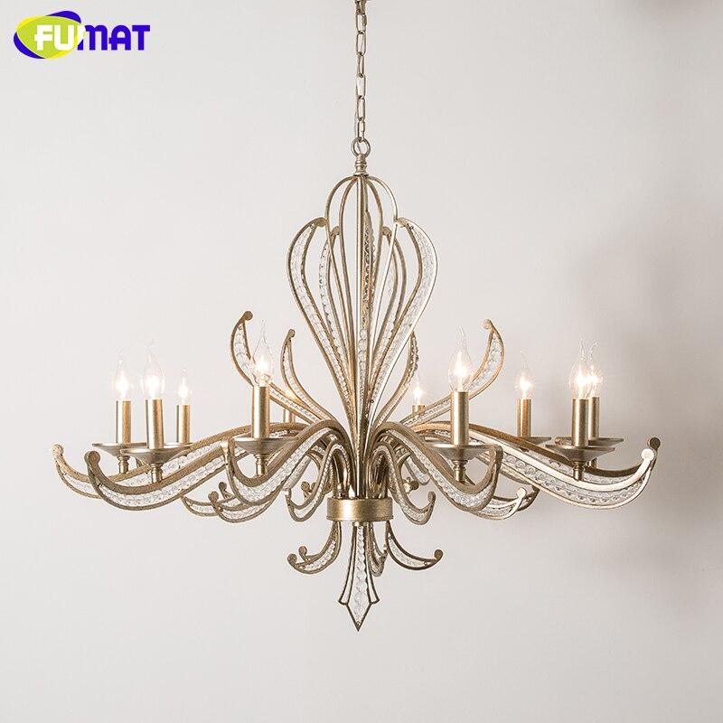 FUMAT Modern LED Chandelier Lighting Iron Lustre K9 Crystal Chandeliers Loft Home Deco Kitchen Hanglamp Pendant Ceiling Lamps