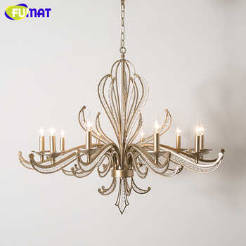 FUMAT Modern LED Chandelier Lighting Iron Lustre K9 Crystal Chandeliers Loft Home Deco Kitchen Hanglamp Pendant Ceiling Lamps - DISCOUNT ITEM  36% OFF All Category