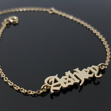 Old English Name Bracelet Personalized BFF Bracelets Custom For Womens Clothing & Accessories
