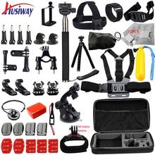 Husiway pour Gopro Accessoires set pour go pro hero 6 5 4 3 kit de montage pour SJCAM SJ4000/xiaomi yi caméra/eken h9 trépied 14L