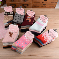 10 piecesAutumn and winter woollen socks thickening warm rabbit wool socks children wholesale child cotton lady socks