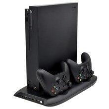 4 ב 1 אנכי Stand עבור Xbox אחד X קירור מאוורר עם בקר מטען Dock תחנת טעינה 4 USB יציאות רכזת