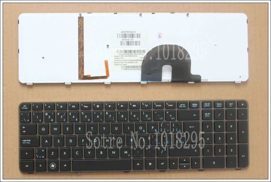 100% NEW For HP Envy 17,17-2199EL, 17-2199EZ 17-1189EL, 17-1190CA Canadian French laptop keyboard With backlight 610914-121 100% new for hp envy 17 17 2199el 17 2199ez 17 1189el 17 1190ca fr french laptop keyboard with backlight 610914 051