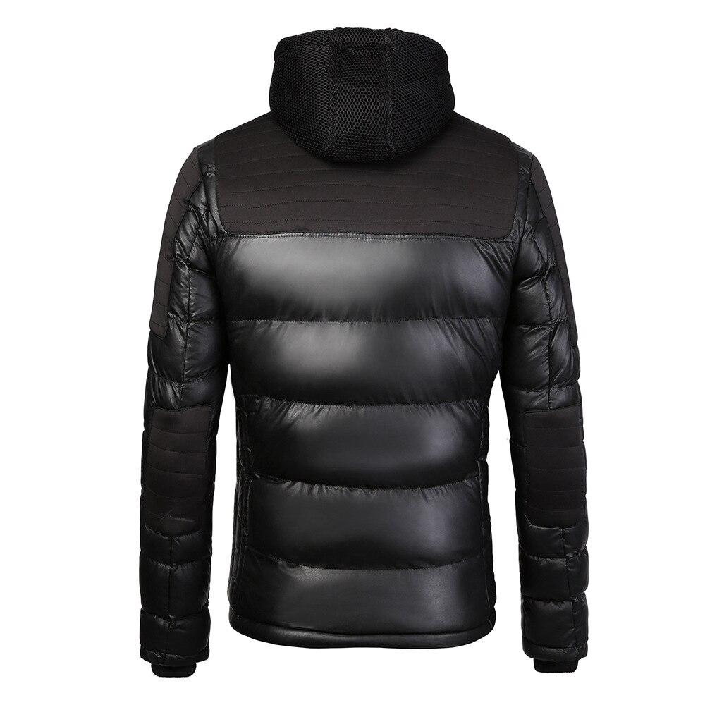 Avec 2018 New Hommes Marque Coton Mince Casaco Capuche Casual Hot Veste Hiver Masculino Blue Parkas AzB5x5qw