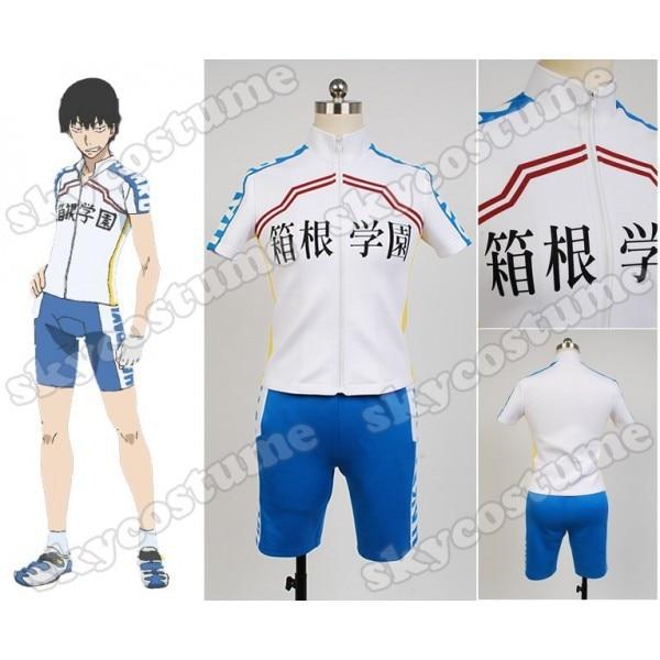 Yowamushi Pedal Hakogaku Japan Jersey Gloves Short Sleeve Clothing Shorts  Sporting Racing Suits Cosplay Costume