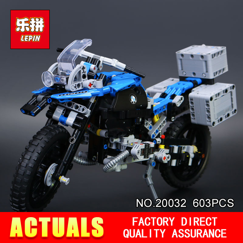 New Lepin 20032 603Pcs Technic Series The car Off-road Motorcycles R1200 GS Building Blocks Bricks Educational Toys with 42063 decoo 3369 technic series the bamw off road motorcycles r1200 gs building blocks bricks educational toys lepin 20032 b11