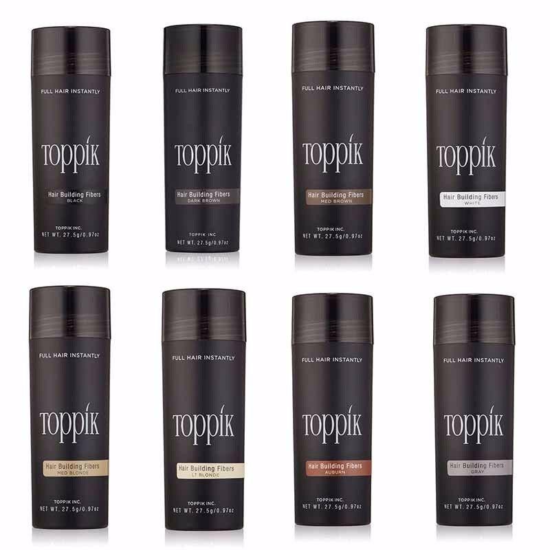 27.5g Hair Building Fibers And Spray Applicator Color Powder Extension Keratin Toppik Hair Fibers Thinning Hair Loss Treatment