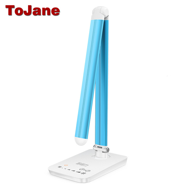 ToJane TG168 Desk Lamp 8W 7 level Dimmer 5 Color Temperature Led Table Lamp With USB Charging Port Flexible Eye-sight Protection