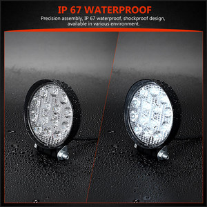 Image 4 - 4 Inch 42 48W Offroad LED Work Light Spotlight Flood Spot Beam Drive Lamp for JEEP UAZ 4x4 Car 4WD Boat SUV ATV Truck Motorcycle
