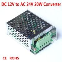 FOXSUR 12 V DC do 24 V AC 50-60 hz 20 W Zasilacz, DC do AC Konwerter, 12 V łodzi monitor Kamery CCTV zasilania, 24 V AC power adapter