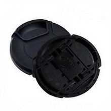 10 adet/grup 49 52 55 58 62 67 72 77 82 86mm merkezi pinch Snap on kapatma başlığı LOGO canon nikon kamera Lens