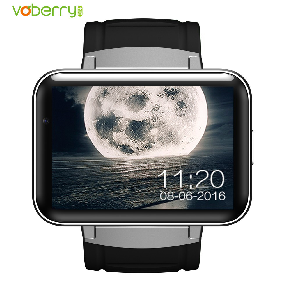 VOBERRY DM98 Smart Watch 2.2 inch IPS HD Smartwatch Phone Dual Core 512MB RAM 4GB ROM Android OS Camera 3G WCDMA GPS WIFI Watch eastvita dm98 smart watch 2 2 inch hd screen 512mb ram 4gb rom dual core android 4 4 os 3g camera wcdma gps wifi smartwatch r30