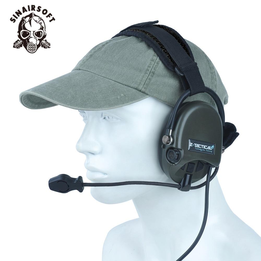 Z 039 Tactical Earphone TCI Liberator II Neckband Headset Tactical Military Hunting Microphone Headphone
