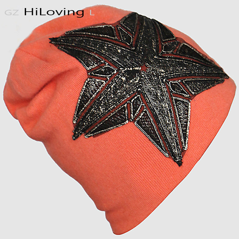 GZHilovingL Autumn Winter Wool Women Beanies Hats Soft Solid Color Star Hip Hop Knitted Beanie Hats Unisex Mens Long Slouch Hat [jamont] love skullies women bandanas hip hop slouch beanie hats soft stretch beanies q3353