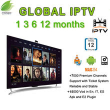Europe IPTV V8 Super for Spain France Germany Italy with 3 months IPTV Server support M3U Android Enigma2 Live + VOD Channels(China)