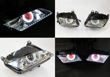 купить Motorcycle Angel Eye HID Projector Demon Eye Headlight Assembly for Honda CBR600RR 2007 2008 2009 2010 2011 2012 по цене 14328.21 рублей