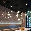 Светодиодный светильник в стиле постмодерн для столовой  гостиной  фойе  спальни  подвесной светильник  железное золото  плюс черные люстры ...