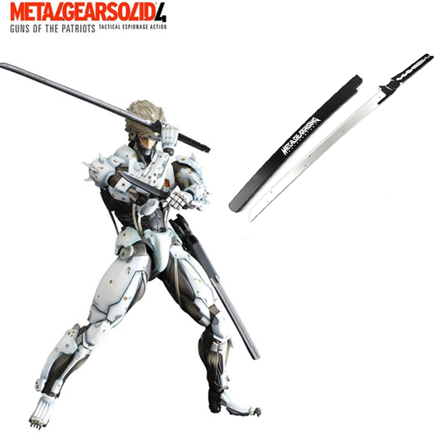 Free Shipping Metal Gear Solid Rising Raiden Wooden Blade Anime