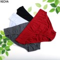 Eco-friendly cotton comfortable breathable large size men brief sexy design