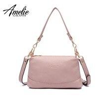 ce7cee6fbf4 AMELIE GALANTI Women shoulder messenger bags crossbody bag ladies PU leather  handbag female fashion solid small tote bag purse