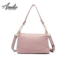 AMELIE GALANTI Women shoulder messenger bags crossbody bag ladies PU leather handbag female fashion solid small tote bag purse nmd original women shoulder messenger bag genuine leather handbag female fashion crossbody bag ladies solid small tote bag purse