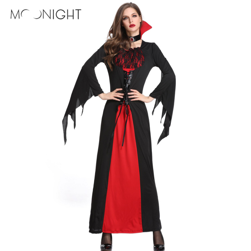 MOONIGHT Plus Size Gothic Sexy Witch Costume Scary Dress