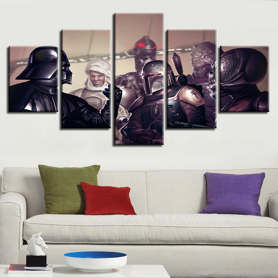 Loki 4p Purple Large wall art canvas print artwork framed home living room