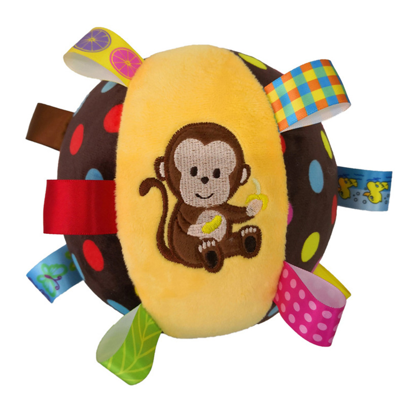 Baby Soft Plush Ball Children Animal Toy With Sound