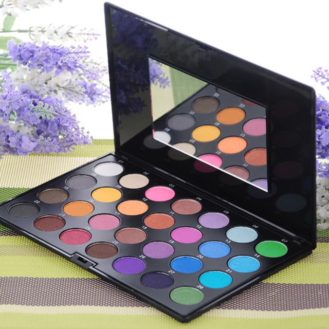 28Color Shimmer Pearl EyeShadow Multicolor Palette For Women Cosmetics New Light and soft Make Up Tool Free Shipping I021