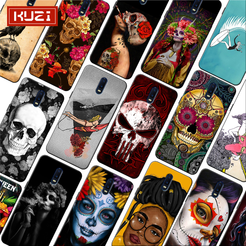 Black girl art Unique Luxury Mexican Skull Soft Silicone Phone Case for font b oneplus b