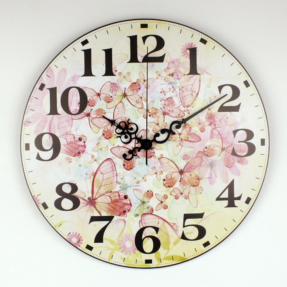 Hermoso reloj de pared de la mariposa decoraci n decoraci n del hogar del reloj silencioso reloj Relojes de decoracion