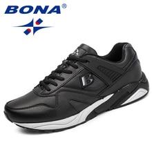 BONA Nieuwe Calssice Stijl Mannen Loopschoenen Lace Up Mannen Sportschoenen Outdoor Jogging Sneakers Schoenen Comfortabel Gratis Verzending
