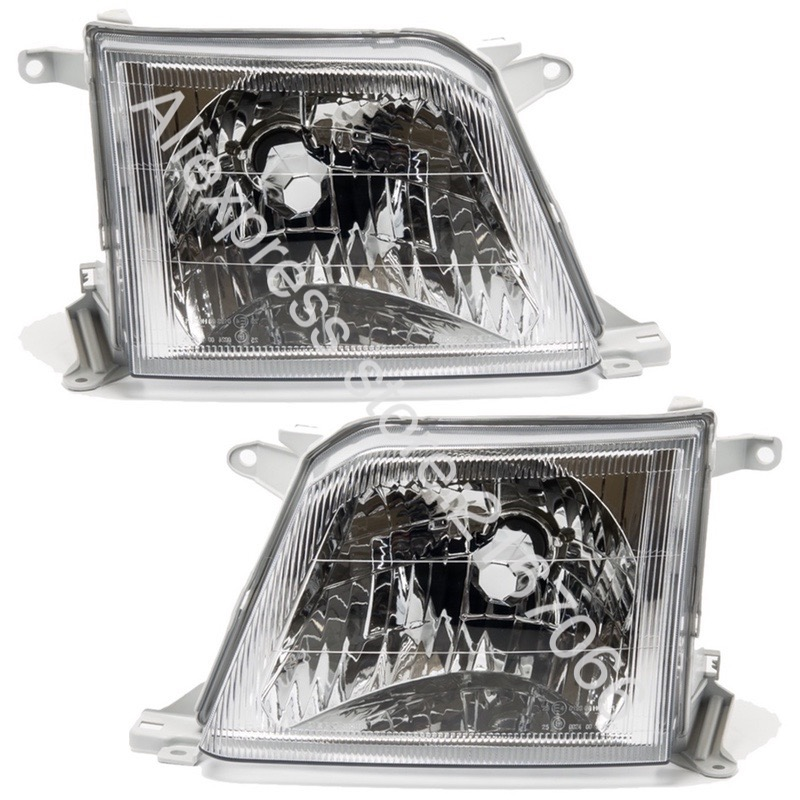 Headlights for Toyota Land Cruiser PRADO 90  2000 2001 2002 Left Driver Side + Right Passenger Side Pair - CLEAR