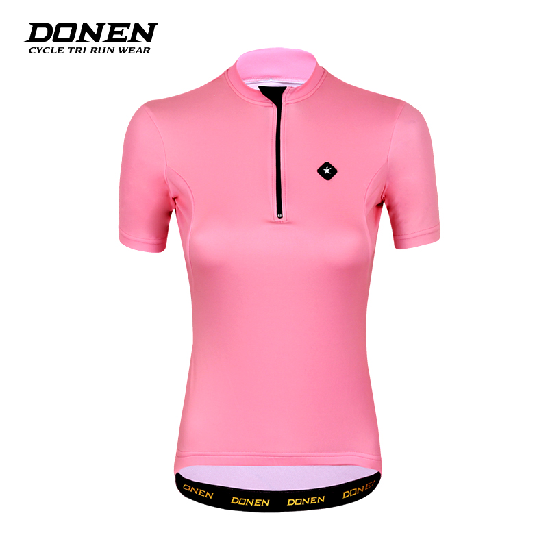Donen womens summer short sleeve Pink Riding t-shirt quick dry breathable fresh outdoor sports equipment Cycling Jersey