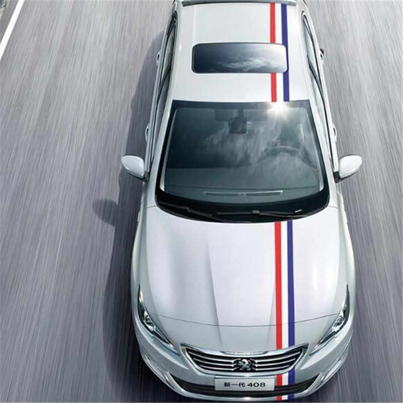 Estilo de coche 200CM * 15CM DIY calcomanía Wrap Car Stickers Rusia Francia Alemania Italia bandera película accesorios para Audi Bmw Volkswagen, Renault