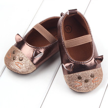 11-13cm Kids Baby Girls Cotton Cartoon Mouse Anti-Slip Sneakers Soft Bottom Elastic port Shoes First Walkers 2 colors available
