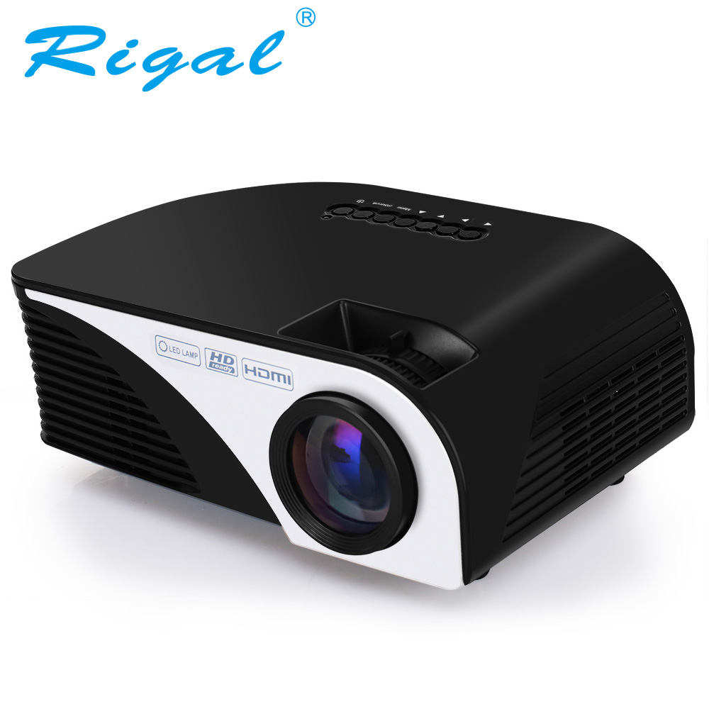 Rigal Projector RD805B 1200 Lumens Android 4.4.4 WIFI LED Portable MINI Projector 3D Beamer for Video Home Cinema Theater Movie ls1280 entertainment home theater projector hybrid laser led led lights high lumens beamer home cinema 23 languages pk xgimi