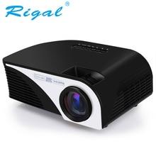 Проектор Rigal, RD805B, 1200 люмен, со встроенным Andorid 4.4.4, с WIFI, светодиодный мини проектор с мультимедийным проектором 3D для просмотра видео на домашнем кинотеатре