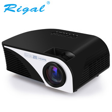Sale Rigal Projector RD805B 1200 Lumens Android 4.4.4 WIFI LED Portable MINI Projector 3D Beamer for Video Home Cinema Theater Movie