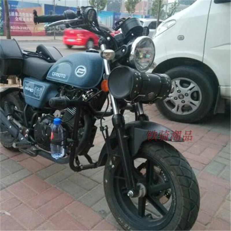 Чёрный; коричневый седельная сумка для мотоцикла Harley Davidson Новое поступление из искусственной кожи универсальный Мото Аксессуары для поездок на мотоцикле, инструмент посылка для хранения инструментов сумка для Harley