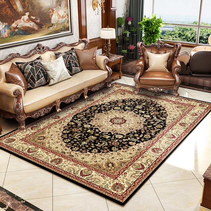 Persian Style Carpet Home Decoration Area Rug For Living Room Thin Velvet  Bedroom Carpet Sofa Coffee Table Floor Mat Study Rugs